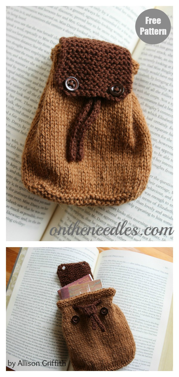 Mini Knapsack Free Knitting Pattern