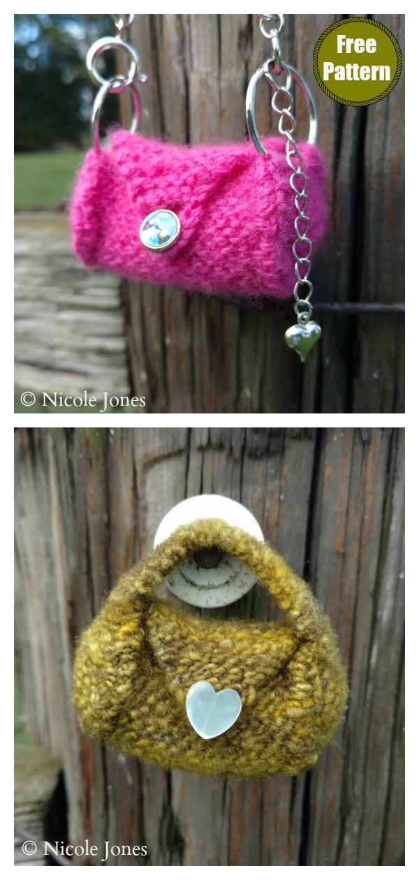 Mini Satchel Bag Free Knitting Pattern
