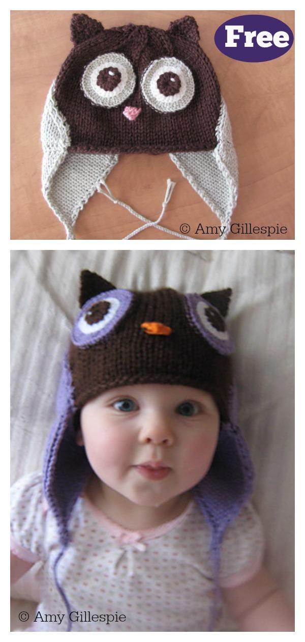 Owl Baby Hat Free Knitting Pattern