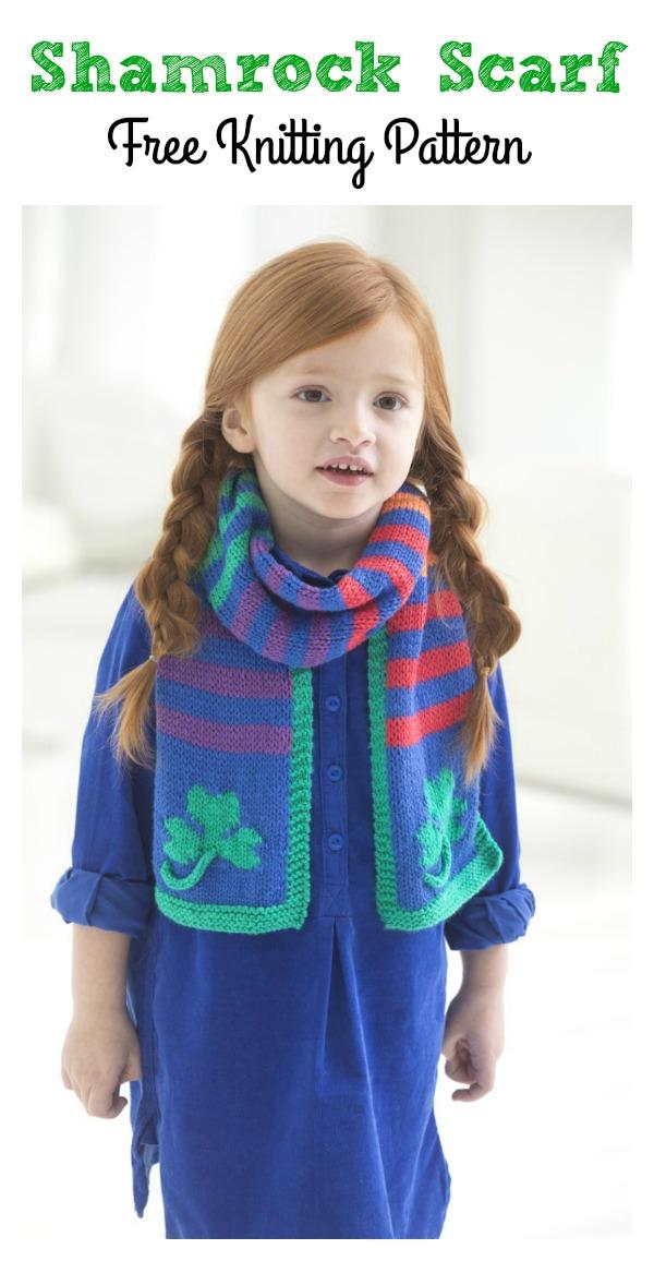 Shamrock Scarf Free Knitting Pattern