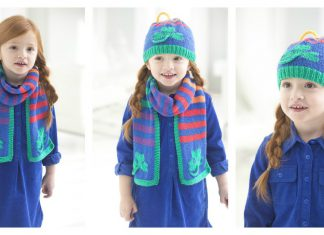 Shamrock Scarf and Hat Free Knitting Pattern