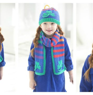Shamrock Scarf and Hat Free Knitting Pattern