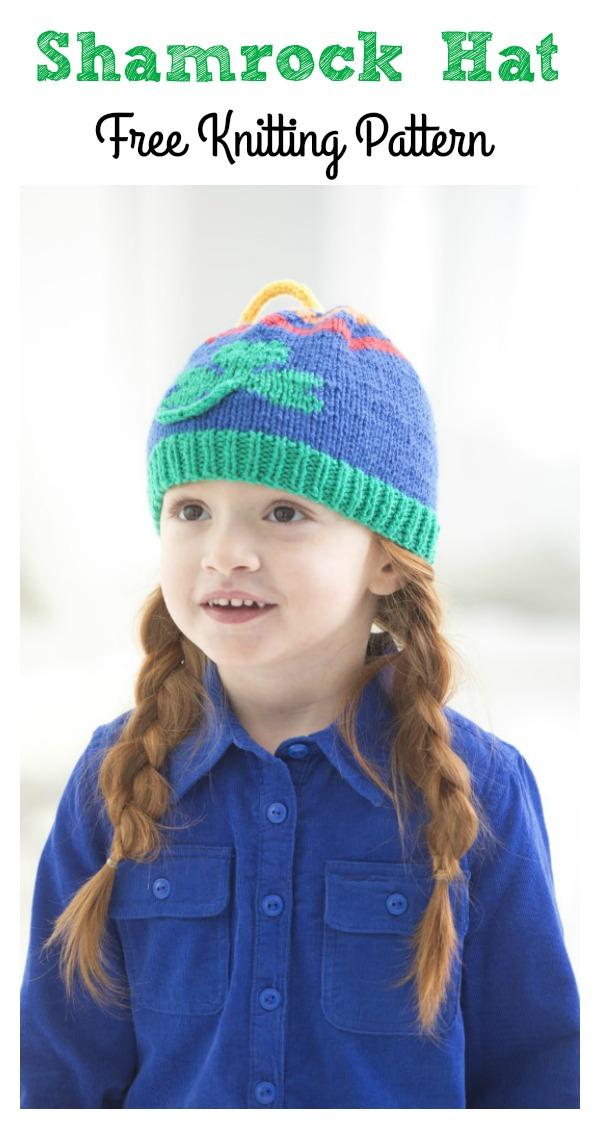 Shamrock Scarf and Hat Set Free Knitting Pattern