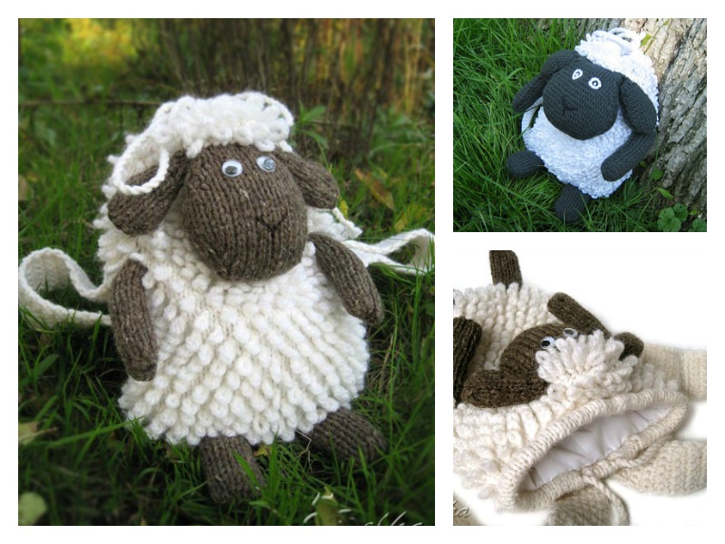 Sheep Backpack Free Knitting Pattern