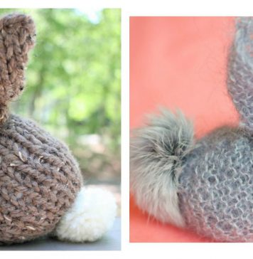 Square Bunny Free Knitting Pattern