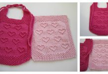 Sweet Heart Bib and Cloth Free Knitting Pattern