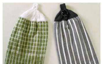 Towel Topper Free Knitting Pattern