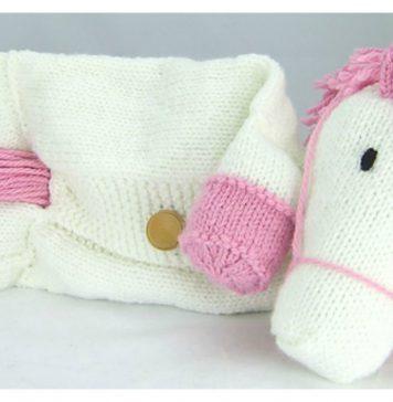 Unicorn Pyjama Case Knitting Pattern