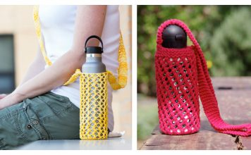 Water Bottle Carrier Free Knitting Pattern