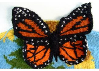 3D Butterfly Free Knitting Pattern