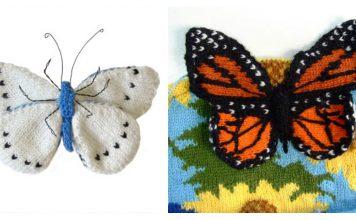 3D Butterfly Free Knitting Pattern