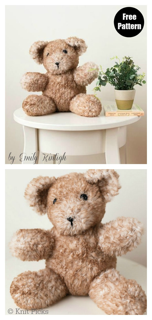 Adorable Teddy Bear Free Knitting Pattern