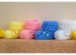 Baby Crocodilly Mocs Booties Free Knitting Pattern