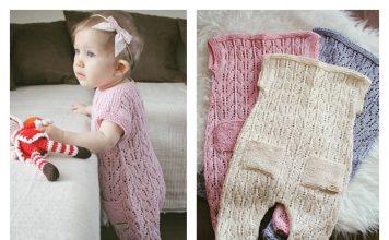 Baby Romper Suit Free Knitting Pattern