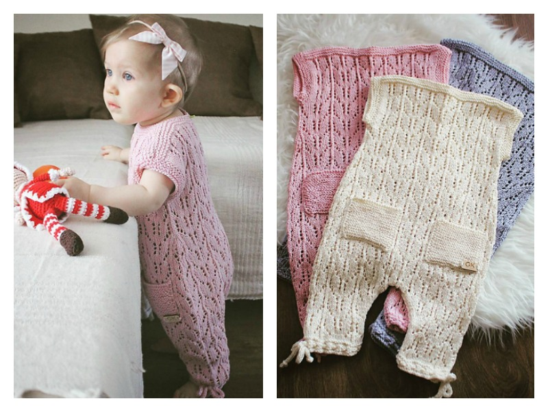 Baby Romper Suit Free Knitting Pattern