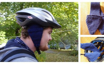 Bike Helmet Earmuffs Free Knitting Pattern