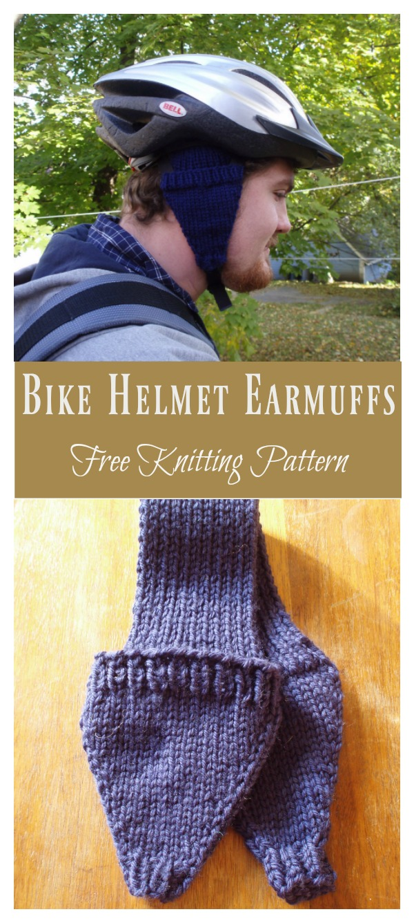 Bike Helmet Earmuffs Free Knitting Pattern