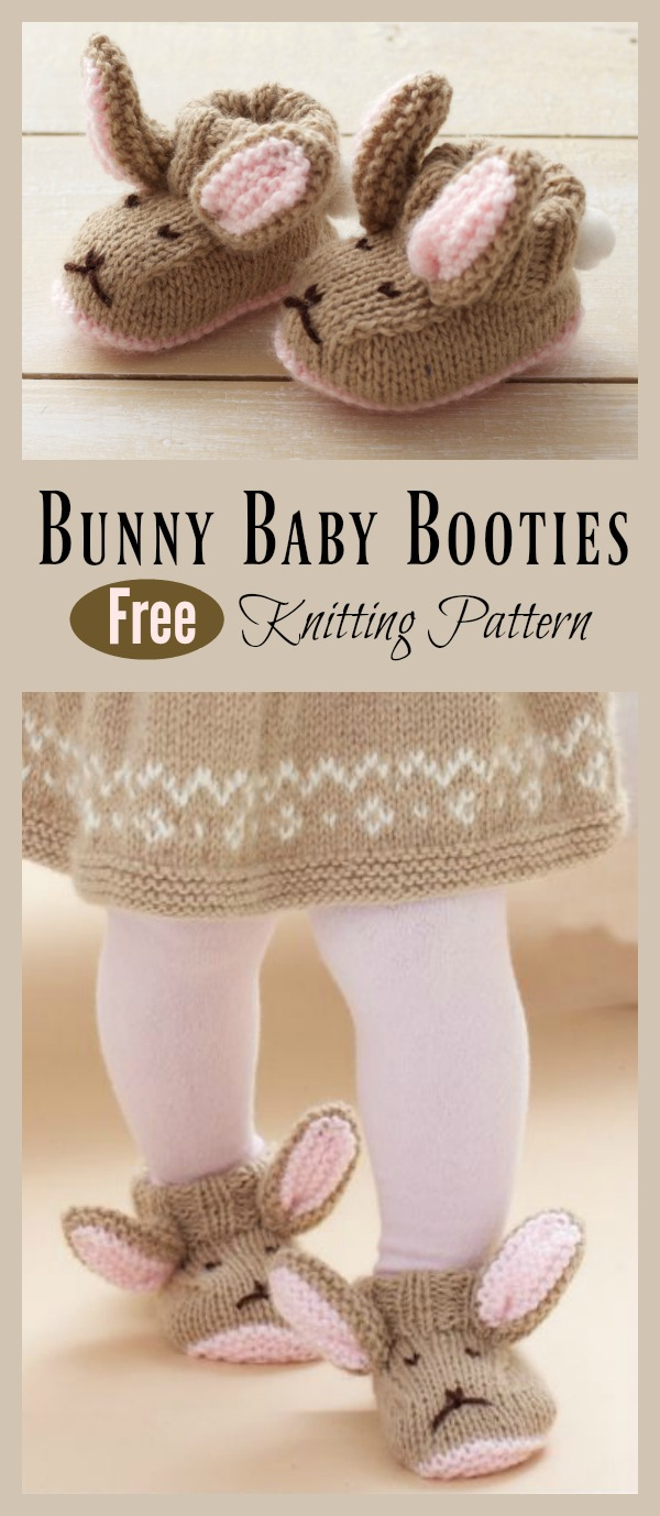 Bunny Baby Booties Knitting Pattern