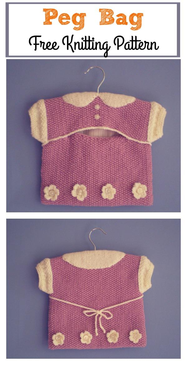 Cute Peg Bag Free Knitting Pattern