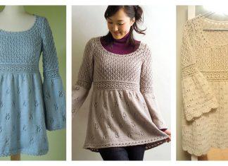 Empire Waist Pullover Free Knitting Pattern