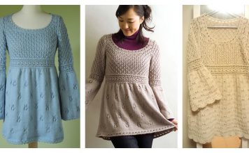 Empire Waist Pullover Free Knitting Pattern