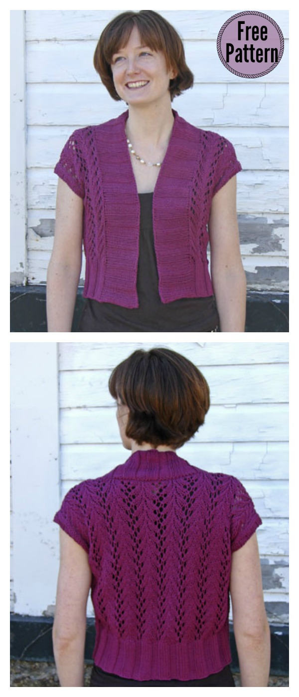 Four Seasons Vine Lace Vest Free Knitting Pattern