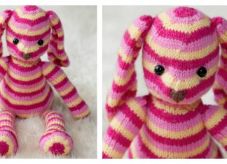 Hop Along Bunny Free Knitting Pattern