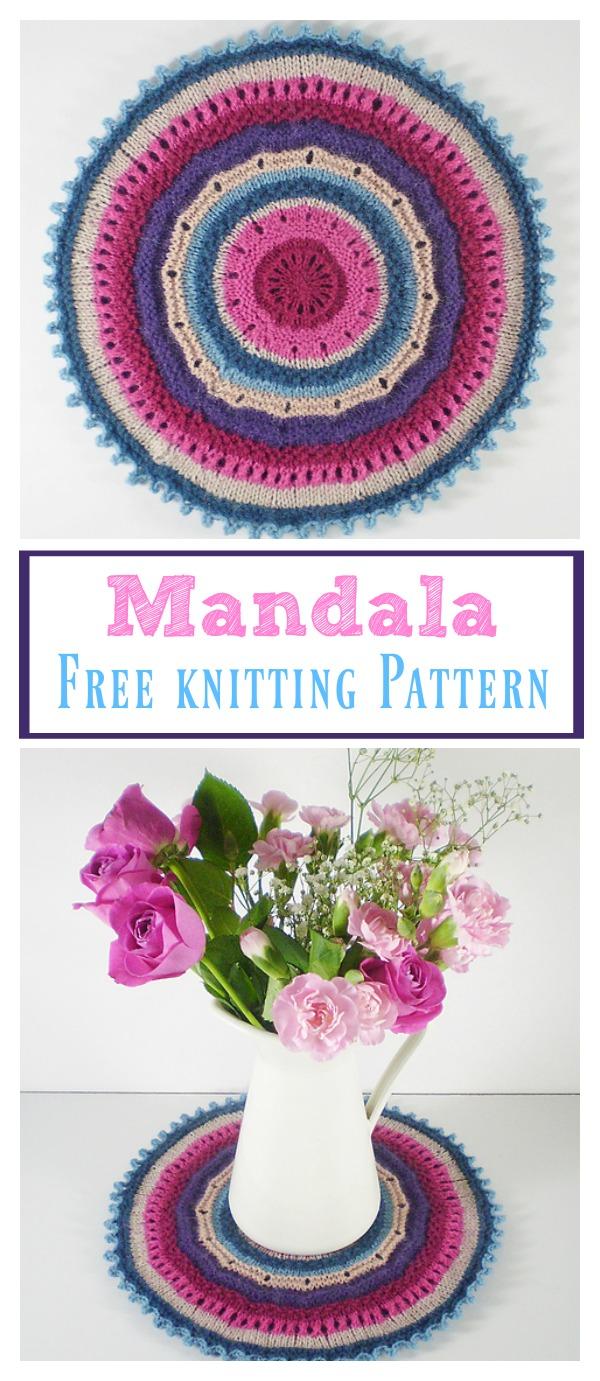 Knitted Mandala Free Pattern