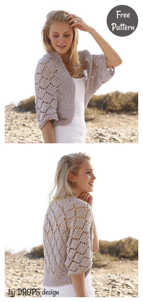 Lace Bolero Free Knitting Patternv