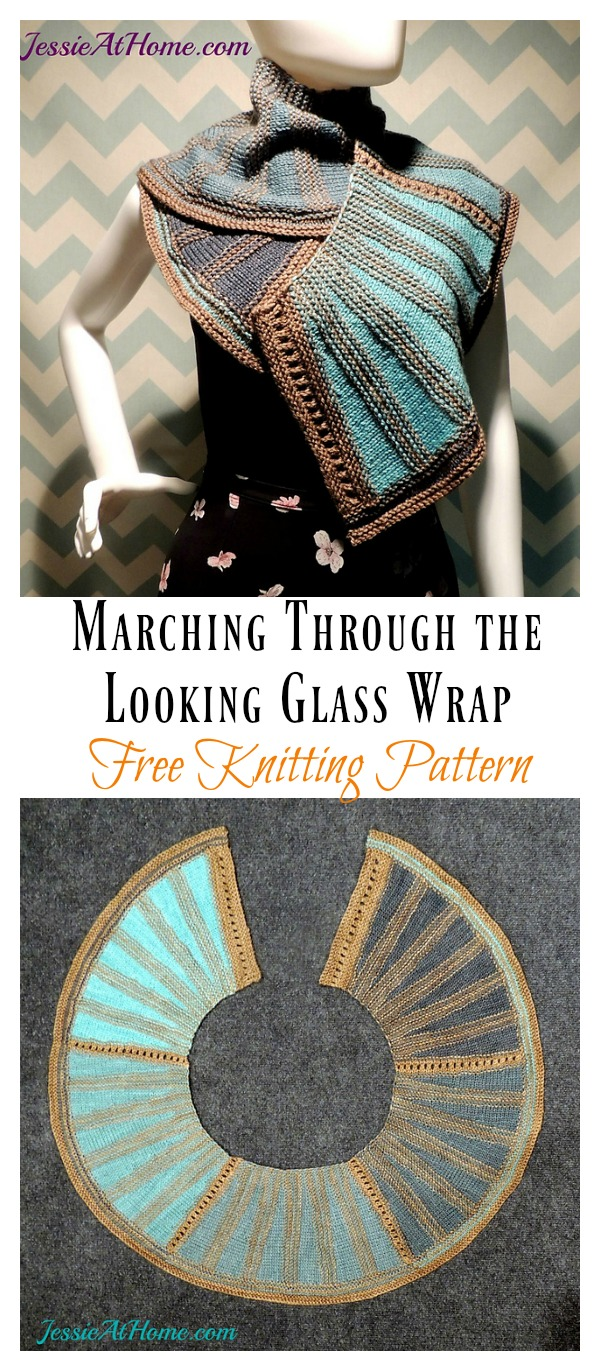 Marching Through the Looking Glass Wrap Free Knitting Pattern