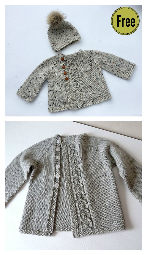 Olive You Baby Cardigan Free Knitting Pattern