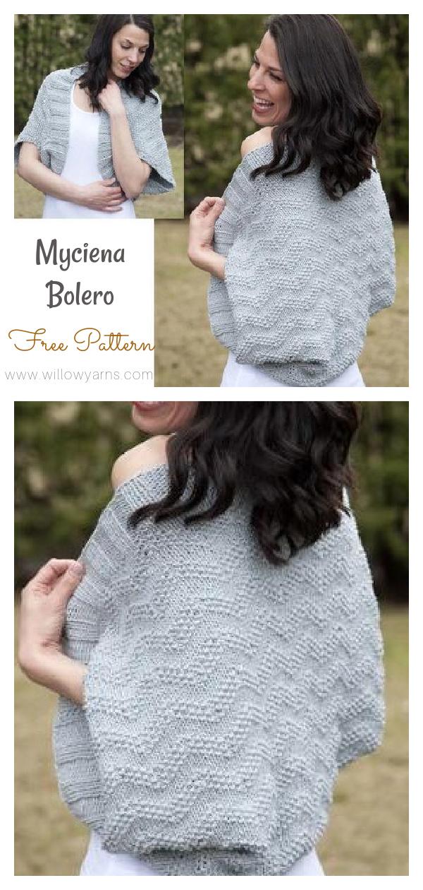 Myciena Bolero Free Knitting Pattern