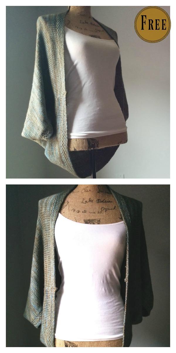 Simple Knit Shrug Free Pattern