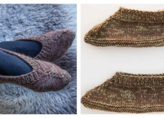 Simply Knit Lady's Slippers Free Pattern