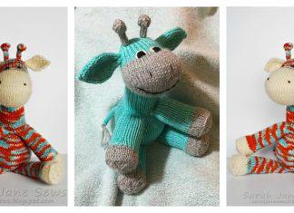 Sock Giraffe Amigurumi Free Knitting Pattern