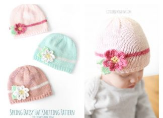 Spring Daisy Baby Hat Free Knitting Pattern