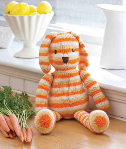 Striped Sunshine Bunny Free Knitting Pattern