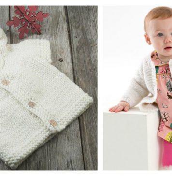 Year-Round Baby Cardigan Free Knitting Pattern