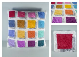 3D Illusion Shadow Squares Free Knitting Pattern