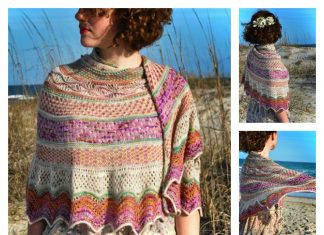 Anemone Shawl Free Knitting Pattern