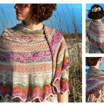 Anemone Shawl Free Knitting Pattern