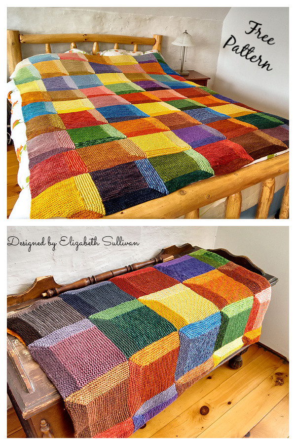Attic Windows Recipe Blanket Free Knitting Pattern