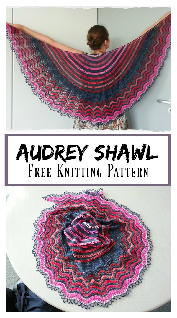 Audrey Lace Shawl Free Knitting Pattern
