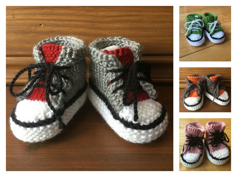 Baby Converse Booties Free Knitting Pattern
