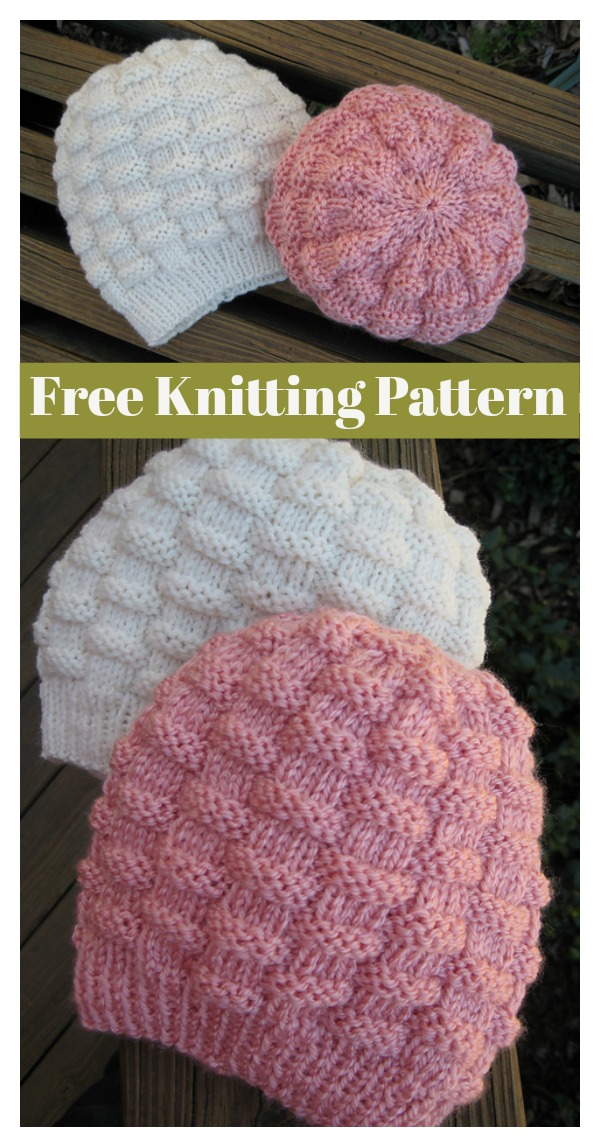Basketweave Hat Beanie Free Knitting Pattern