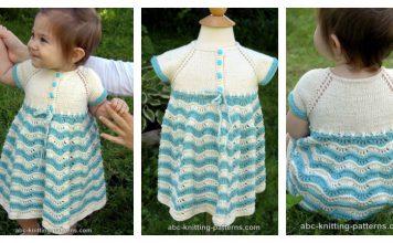 Best Sunday Baby Dress Free Knitting Pattern