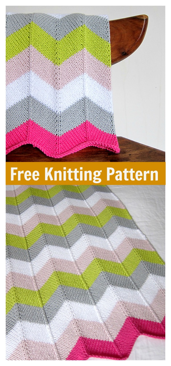 Chevron Baby Blanket Free Knitting Pattern
