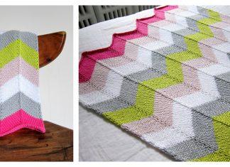 Chevron Baby Blanket Free Knitting Pattern