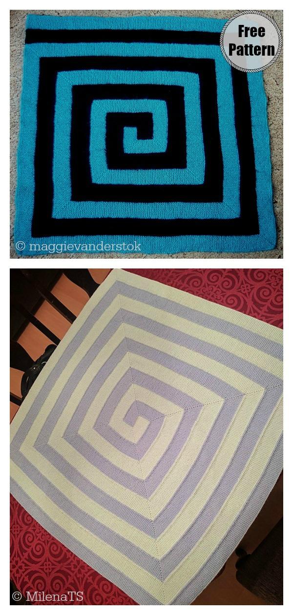 Double Ten Stitch Blanket Free Knitting Pattern