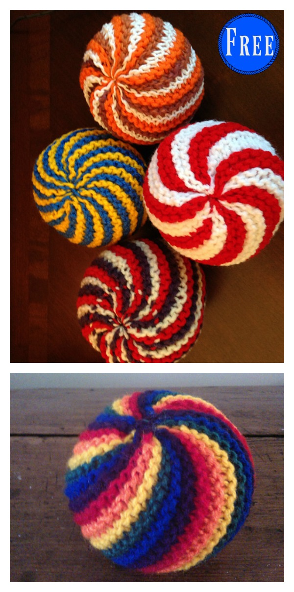 Easy Knit Swirl Ball Free Knitting Pattern